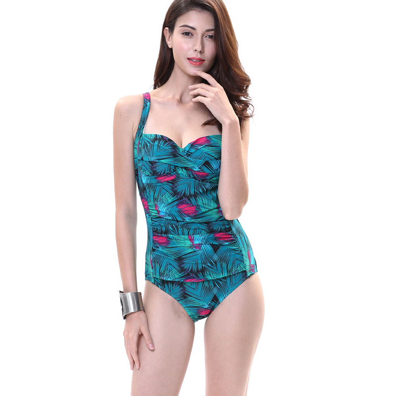253690e9a5147 One Piece 2017 Women s Swimsuits Sexy Floral Swimsuit Plus Size Bathing Suit  Monokini Thong Swimwear US Size 8 10 12 14 16 18