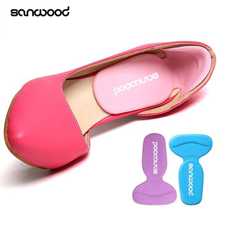 Прочный Т-Форма Нитки толще сзади ноги носят Стикеры Высокие каблуки Мягкие Нескользящие Подставки Аксессуары для обуви ...