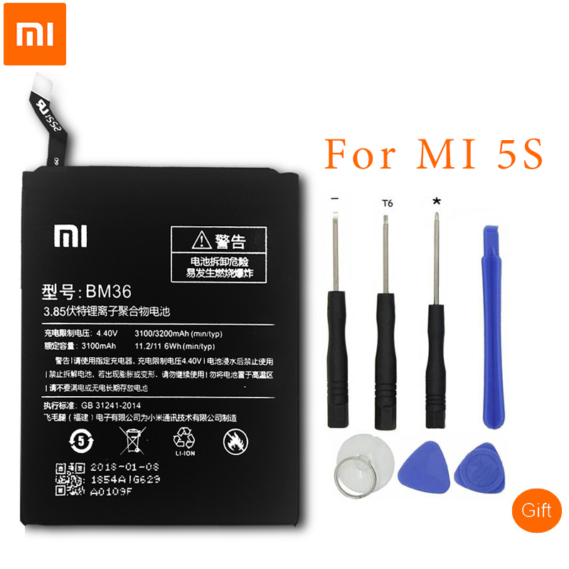 <font><b>XiaoMi</b></font> Original Phone <font><b>Battery</b></font> BM36 For <font><b>Xiaomi</b></font> <font><b>Mi</b></font> 5S <font><b>Mi</b></font> 6 <font><b>Mi</b></font> <font><b>4</b></font> Redmi Note2 BM45 Redmi 4A BN30 BM32 BM39 Replacement <font><b>Battery</b></font> image
