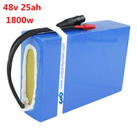 DIY 1500w 1800W E scooter battery pack 48V 25Ah Electric bike lithium Battery with 50A BMS 5A fast charger