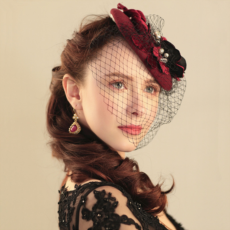 Compare Prices On Burgundy Wedding Hats Online Shopping Buy Low Price Burgundy Wedding Hats At