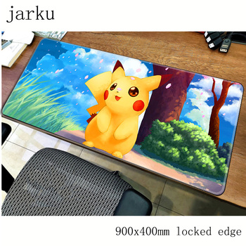 Pokemons mousepad gamer 900x400X3MM gaming mouse pad large thickess notebook pc accessories laptop padmouse ergonomic mat 1