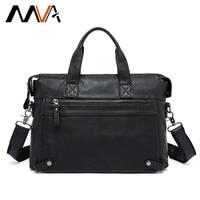 MACHOSSY Genuine Leather bag Business Men bags Laptop Tote Briefcases Crossbody bags Shoulder Handbag Men's Messenger Bag