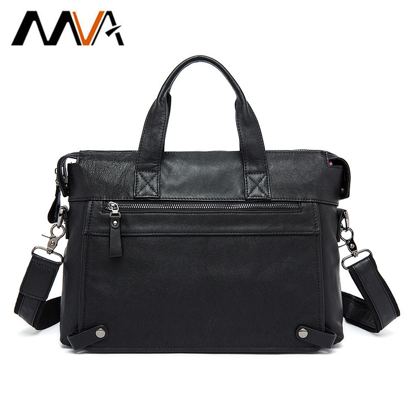 MVA Genuine Leather bag Business Men bags Laptop Tote Briefcases Crossbody bags Shoulder Handbag Men's Messenger Bag lacus jerry genuine cowhide leather men bag crossbody bags men s travel shoulder messenger bag tote laptop briefcases handbags