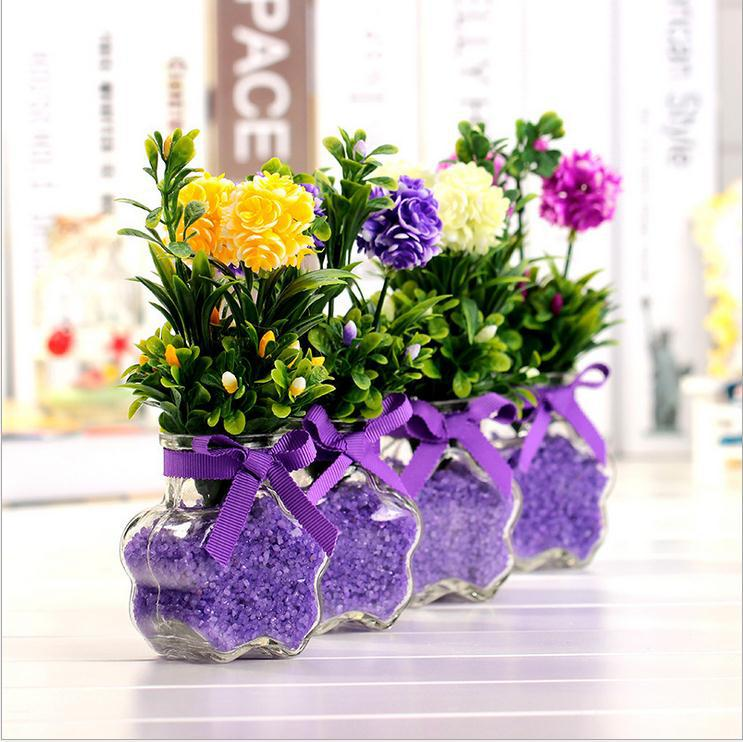 New Wedding Decorations Decorative Flowers Ceramics Vase Artificial