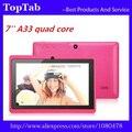 DHL Бесплатная доставка 20 шт./лот 7 дюймов tablet pc A33 android 4.4.2 quad core двойной камеры bluetooth 512 М 4 ГБ tablet pc