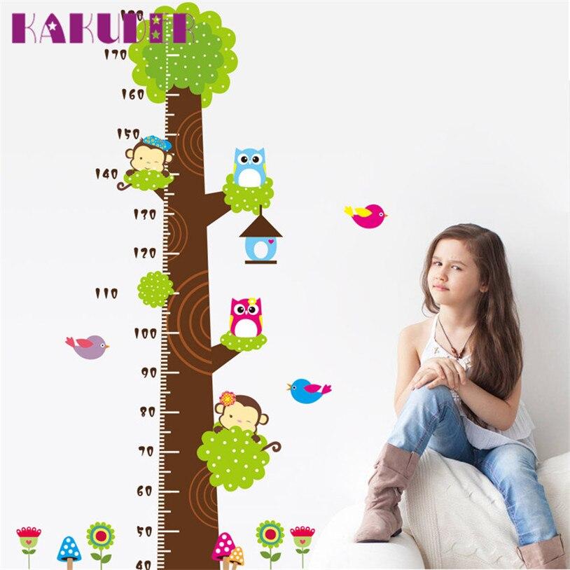 Kids Altura Gráfico Etiqueta de La Pared decoración Animal de la Historieta Gobe