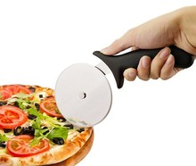 1PC Stainless Steel Pizza Cutter Round Shape Pizza Wheels Cutters Cake Bread Round Knife Cutter Pizza Tools LB 056
