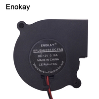 Enokay DC 12V 24V 2Pin 6028 60mm 60x28mm Cooler Cooling Centrifugal Blower Exhaust Fan