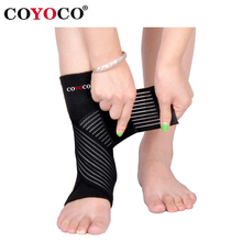 1 Pair Bandage Ankle Brace Support Protect COYOCO Brand Pressurizable Foot Anti Sprain Bicycle Ankle Guard Warm Nursing Black