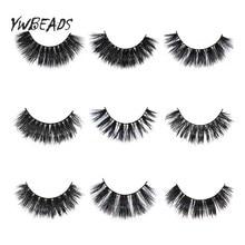 цена Thick Eyelashes 3D Mink Lashes Luxury Hand Made Mink Eyelashes Medium Volume Cruelty Free Mink False Eyelashes Upper Lashes онлайн в 2017 году