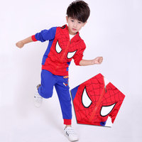 Spiderman Sport Suit For Boys Clothes Baby Boys Clothing Sets Cotton Spring Spider Man Cosplay Costumes