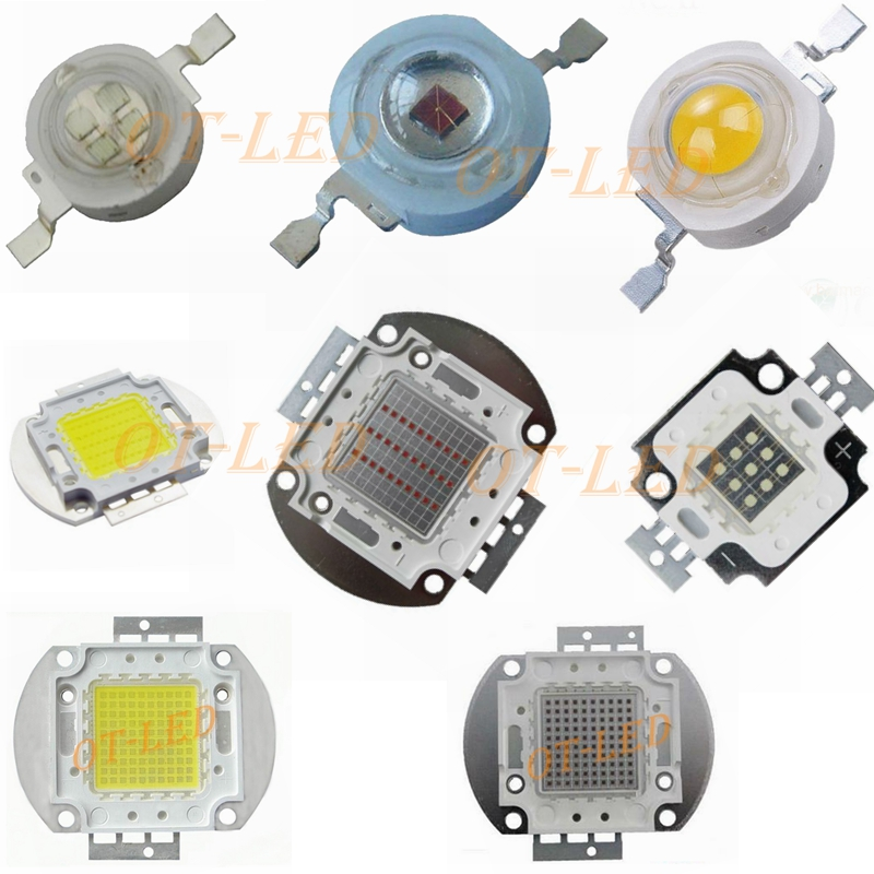 LED Bulb 1W 3W 5W 10W 20W 30W 50W 100W High Power Lamp Chip COB Warm Cool White Red Green Blue 1 3 5 10 20 50 100 W Watt Lights high power led chip 1w 3w 5w 10w 20w 30w 50w 100w watt warm pure cool white light bulb matrix lamp smd cob 3000k 6000k 15000k