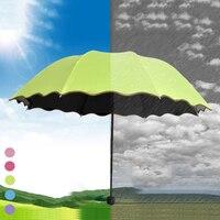 ที่มีคุณภาพสูงร่มเวทมนตร์เจ้าหญิงดอกไม้โดมร่มอาทิตย์/ฝนพับร่มผู้หญิงพื้นผิวตรงกับน้ำปร...