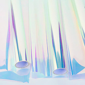 Image 2 - Nicrolandee 20 インチ × 10 ヤード花の包装虹色セロハン虹フィルムクリスマス誕生日結婚式の装飾用品