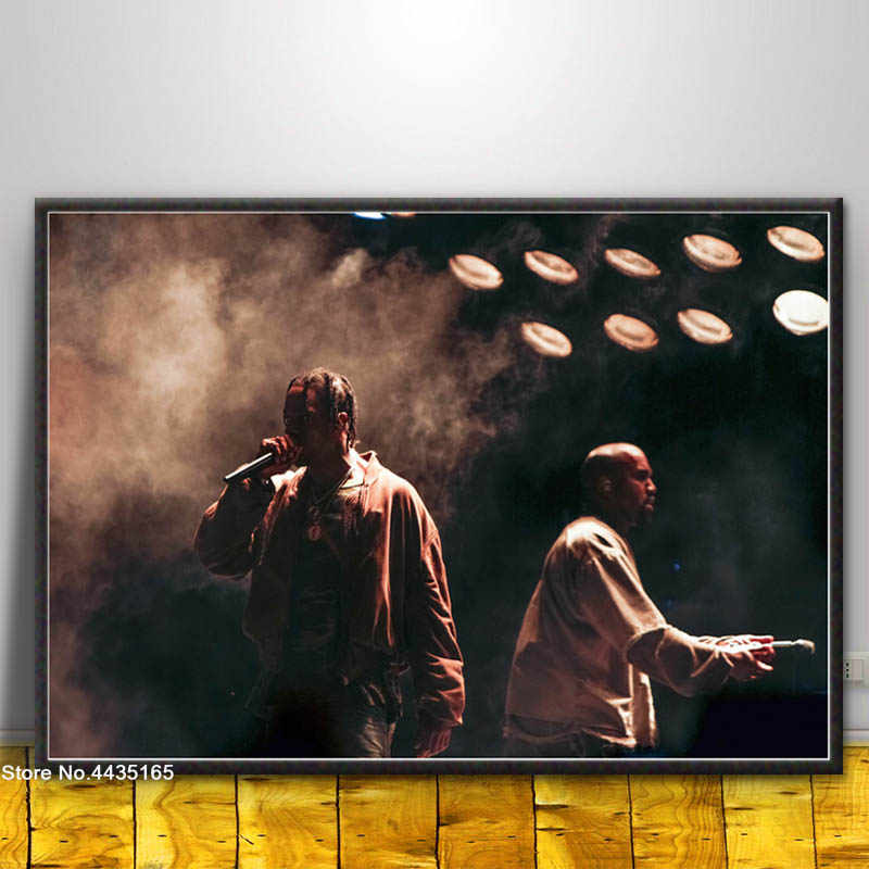 6f7dc9234be37 Kanye West Poster HIP HOP Singer Star Posters and Prints Art Wall  Decoration Canvas Painting for Living Room Home Decor