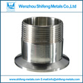 DN80 Stainless Steel 316L Stainless Steel Sanitary Quick Install Male Threaded Ferrule Pipe Fitting Tri Clamp
