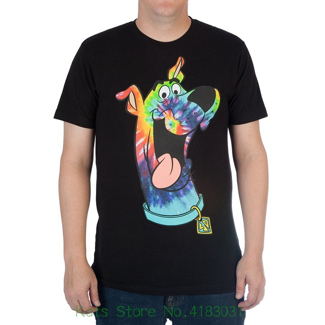 d5ea9e3b Hanna - Barbera Scooby - Doo Men's High Density Tie - Dye Graphic Tee T-shirt  Printed Pure Cotton Men's