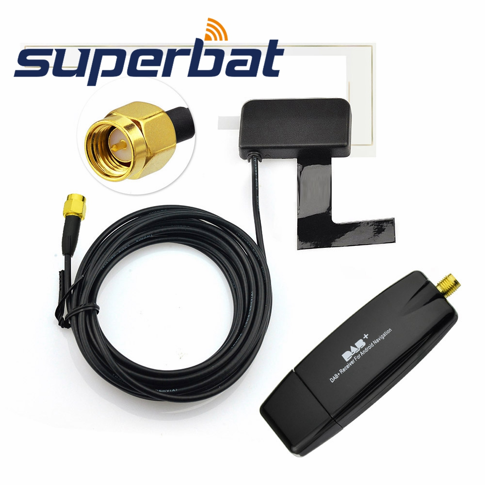 Superbat USB 2 0 Digital DAB Radio Tuner Receiver Stick Antenna For Android Car DVD Player