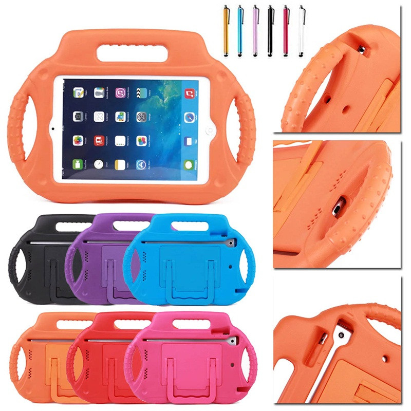 2019 New Safe Kids Shockproof EVA Stand Case For iPad mini 1234 Children foam Handle Stand Cover For iPad mini 5 7.9 inch+Stylus2019 New Safe Kids Shockproof EVA Stand Case For iPad mini 1234 Children foam Handle Stand Cover For iPad mini 5 7.9 inch+Stylus