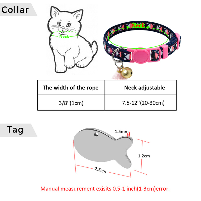 Personalized Cat Collar With Bell And Number Tag  6