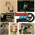 Twenty One Pilots Vintage Retro rock band music Guitar Matte  Antique Poster Wall Sticker Home Decora Part 2
