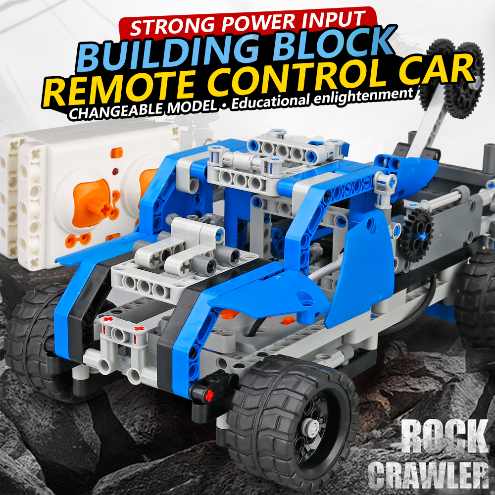 NEW DIY building blocks rc car 2017A-24 1:16 2.4g remote control car brain game radio control rock crawler for kid birthday gift