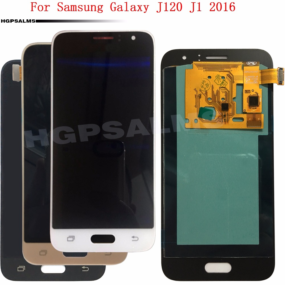 Super <font><b>AMOLED</b></font> <font><b>LCD</b></font> Für Samsung Galaxy J120 J1 2016 J120H J120M <font><b>J120F</b></font> <font><b>LCD</b></font> Display Touch Screen Glas Digitizer Montage + logo image