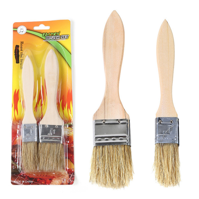 Barbecue tools Outdoor barbecue brush Brush seasoning barbecue supplies  High quality bristle brush Camping Cooking sauces brush - Wood Stove Supplies Promotion-Shop For Promotional Wood Stove