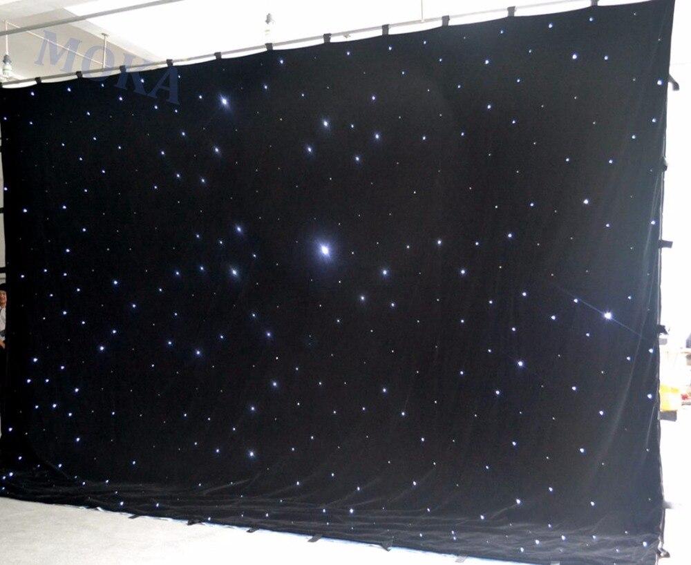 1 ピース/ロット 4 メートル * 6 メートル (h/L) RGBY 混合 LED ステージの背景、 LED スター布 Dmx 制御 LED カーテンウォール結婚式の装飾のため  グループ上の ライト & 照明 からの 舞台照明装置 の中 1