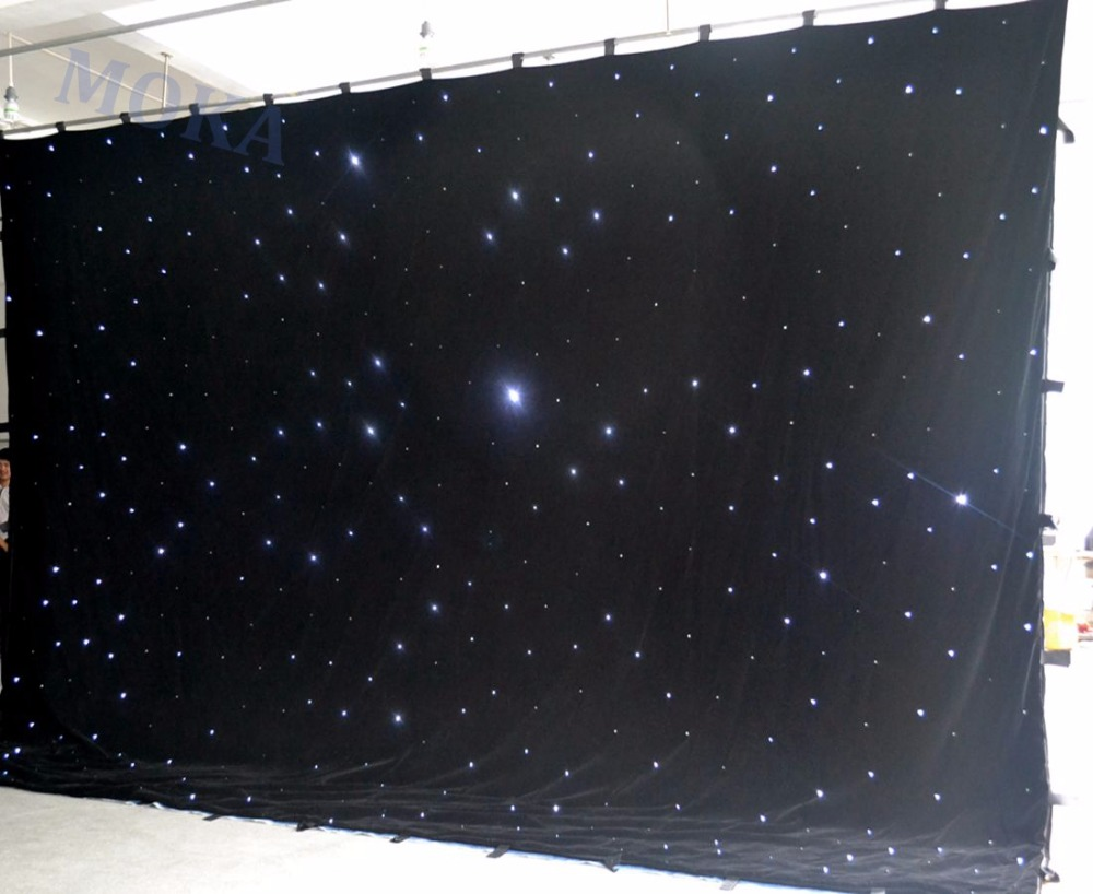 1 Pcs/lot 4m*6m(H/L) RGBY mixing LED Stage Backdrop,LED Star Cloth DMX controlled LED Curtain wall for Wedding Decoration led fiber optic wedding backdrop curtains lights for wedding stage decoration