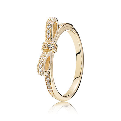b3043a5ae My Princess PANDORA Ring Gold Butterfly Rings Compatible with Pandora  Jewelry Sparkling bow, clear cz Size 6- PANDORA SALE new Authentic Pandora  Silver 14K ...