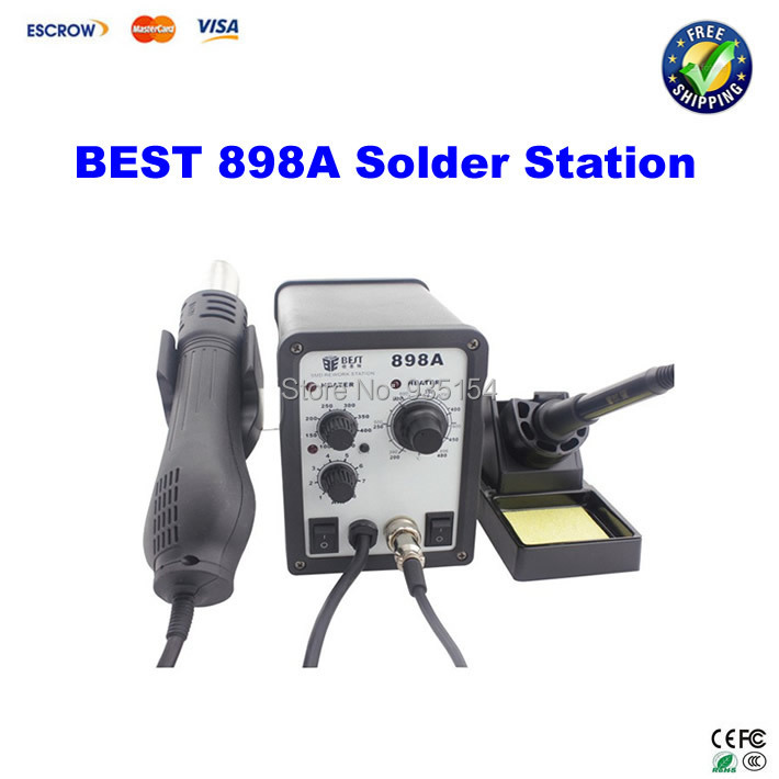 BEST 898A 2 in 1 Leadfree Hot Air Gun Solder Iron Soldering Desoldering Station