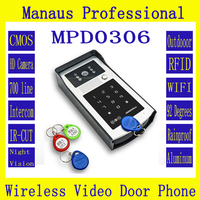 WIFI Video Doorphone Outdoor Monitor Intercom RFID Code Keypad Doorbell Camera Apply To Families Floors Villas