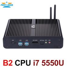 Бродуэлл Процессор Win10 Mini PC i7 Barebone NUC безвентиляторный Computador Core i7 5550U Графика Iris 6100 4 К HD HTPC i7 4500u