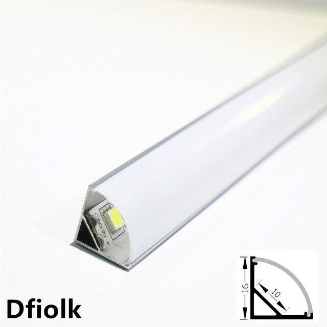 10 pièces DHL 1 m a mené le profil en aluminium de bande pour la carte pcb 5050 5630 de 10mm a mené le canal en aluminium de logement de bande avec le chapeau d'extrémité de couverture et les agrafes