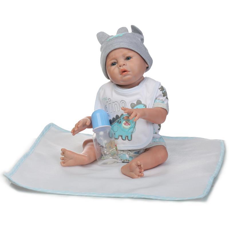 Cuerpo completo de silicona Renacer bebé gemelos muñecas 22 - Muñecas y peluches - foto 4