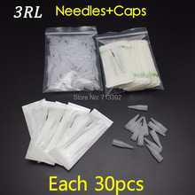 3Rx30pcs Profession Sterilized Permanent Makeup Needles With Tips