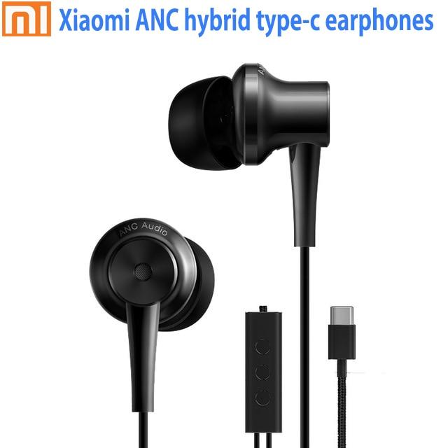 Original Xiaomi ANC headset Hybrid Typ C Lade-Freies Mic Musik kopfhörer für Xiaomi Mi6 MIX Note2 Mi5s/Plus