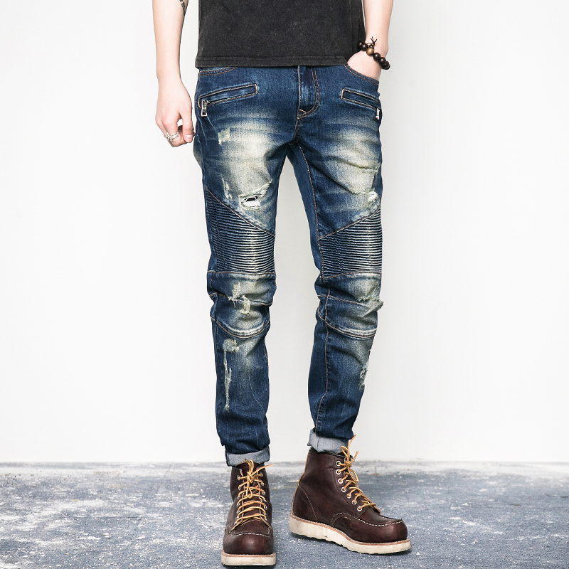 Popular Denim Cargo Pants Men-Buy Cheap Denim Cargo Pants Men lots ...