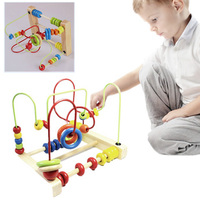 New Learning Wooden Round Moving Beads Toy Developmental Game Toy For Kids Kawaii Children Toys Hobbies