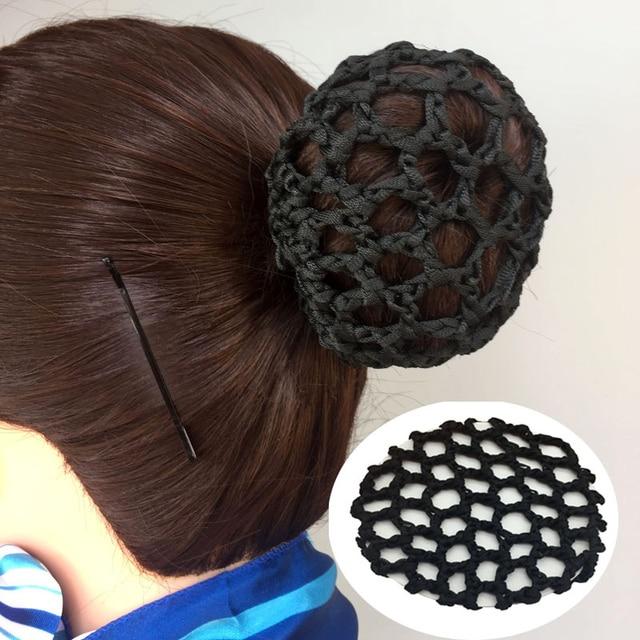 20pcslot 10cm Fashion Women Solid Color Hair Snood Hairnet Mesh