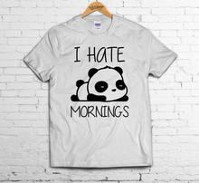 48d162124 I HATE MORNINGS T SHIRT Sleepy Panda Zoella Present Tumblr Geek Hipster  Cute TOP free shipping cheap tee,2019 hot tees