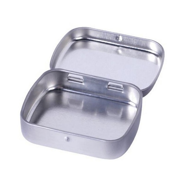 200pcslot plain silver tin box 60mmx47mmx15mm rectangle tea candy 200pcslot plain silver tin box 60mmx47mmx15mm rectangle tea candy mint business card usb storage reheart Gallery