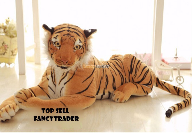 plush toy stuffed doll emulational animal tiger lion cheetah panther leopard 1pc