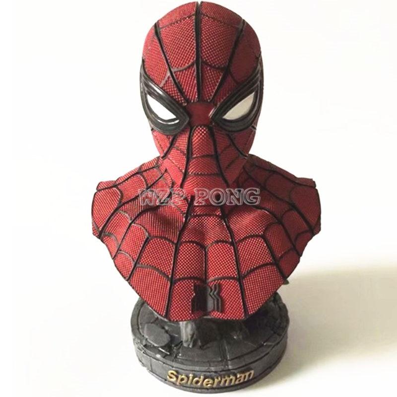 все цены на 23CM Avengers: Infinity War - Part I /II Movie Action Figures Spider-Man Model Statue SpiderMan Resin Bust Collection Gift онлайн