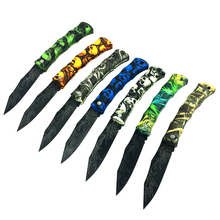 8 Colors Colorful Folding Knife pocket Plastic Handle Fruit Knife Stainless Steel Blade Portable Tool