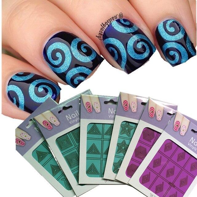 New Sweet Buns Pattern Nail Art Template Stencil Nail Stickers Nail ...