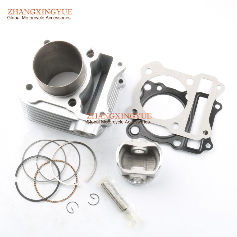 62mm BIG-BORE Barrel Cylinder Dome Piston Kit Upgrate 150cc for SUZUKI GS125 GN125 EN125 Euro 1 Emission Standard цена и фото