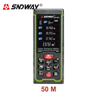 SNDWAY 50M 70M 100M Digital Laser Rangefinder Color Display Digital Rechargeable Rangefinder Distance Meter Measure Tools